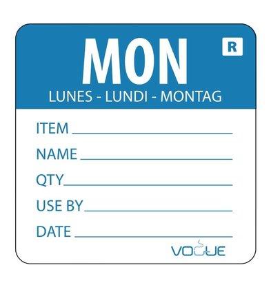 Vogue Kleurcode-Sticker Maandag | Blauw | per 500