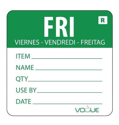 Vogue Kleurcode-Sticker Vrijdag | Groen | per 500
