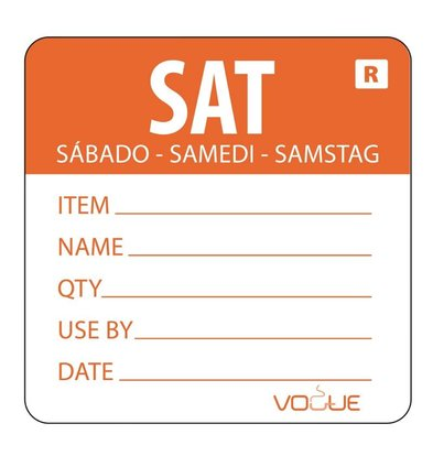 XXLselect Kleurcode-Sticker Zaterdag | Oranje | per 500