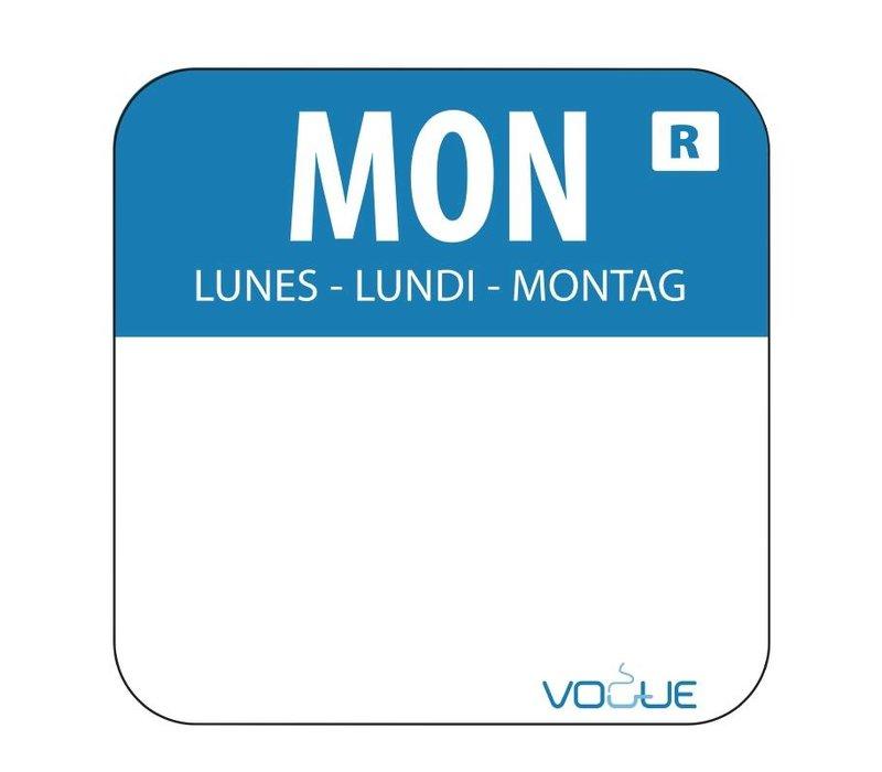XXLselect Kleurcode-Stickers Maandag | Blauw | per 1000