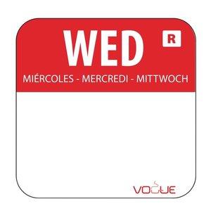 XXLselect Kleurcode-Stickers Woensdag | Rood | per 1000