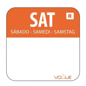 XXLselect Kleurcode-Stickers Zaterdag   Oranje   per 1000