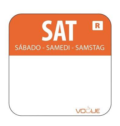 XXLselect Kleurcode-Stickers Zaterdag | Oranje | per 1000