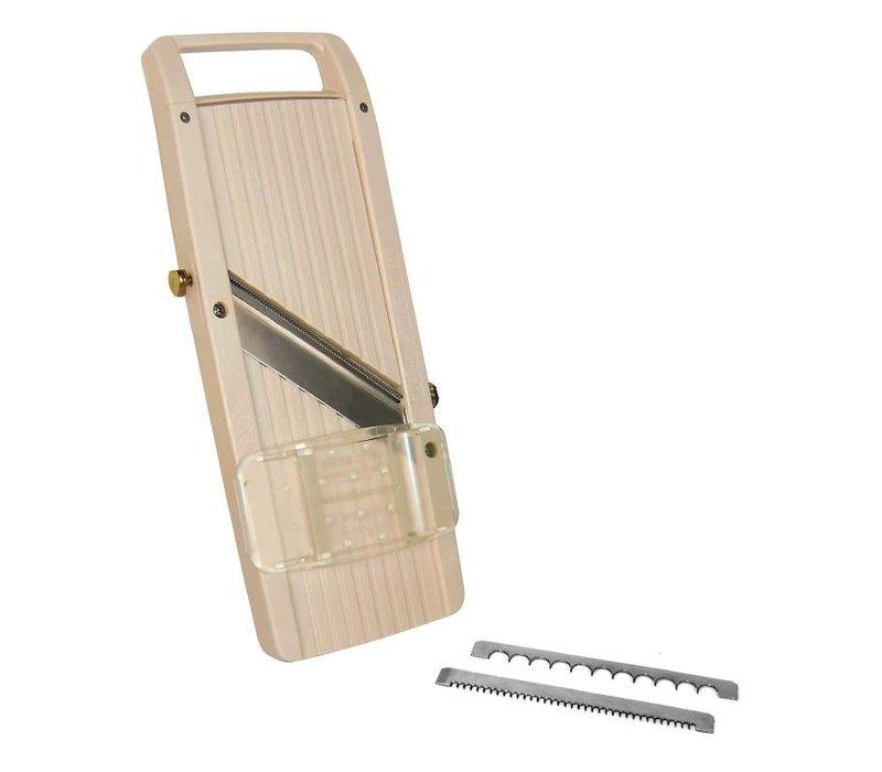 XXLselect Mandoline Jumbo | ABS Plastic | Incl. 3 Messen