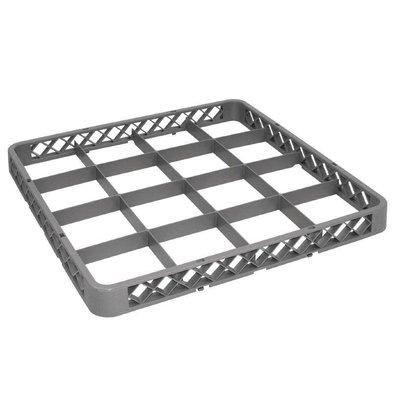 XXLselect Opzetrand voor Korf | 16 Compartimenten | 50x50cm