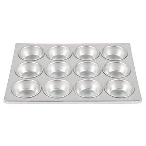XXLselect Bakplaat 12 Muffins Ø75mm | Aluminium |360x275mm