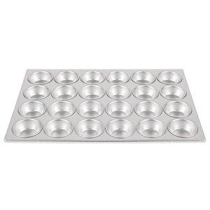 XXLselect Bakplaat 24 Muffins Ø75mm | Aluminium | 358x523mm