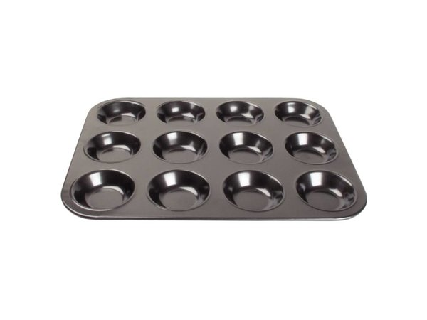 XXLselect Bakplaat 12 Mini Muffins Ø70x20mm | 320x240mm