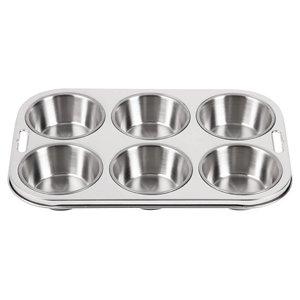 XXLselect Bakplaat 6 Muffins Ø70mm | 270x185mm