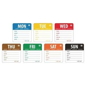 XXLselect Week Kleurcode Stickers | 7 Rollen x 250 Stickers