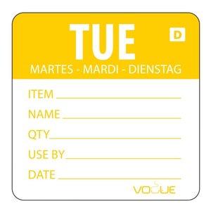 XXLselect Kleurcode Sticker Dinsdag | Oplosbaar | Rol 250 stuks