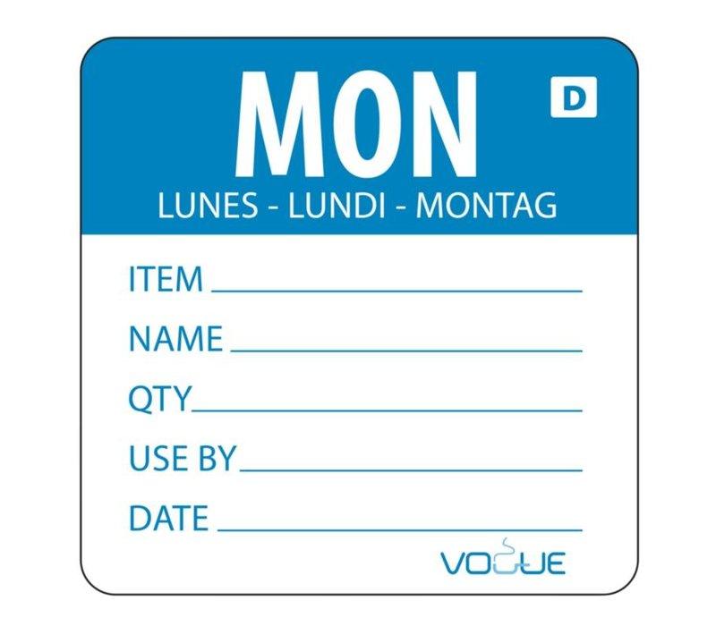 XXLselect Kleurcode Sticker Maandag | Oplosbaar | Rol 250 Stuks