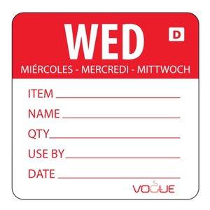XXLselect Kleurcode Sticker Woensdag | Oplosbaar | Rol 250 Stuks