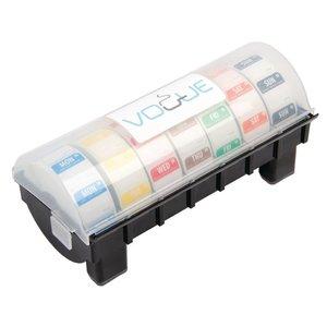 XXLselect Dispenser voor Voedseletiketten 2,5cm   Incl. 7 Rollen x 1000 Stickers