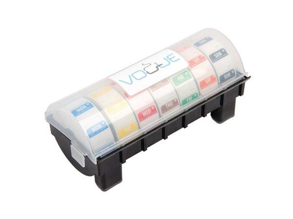 XXLselect Dispenser voor Voedseletiketten 2,5cm | Incl. 7 Rollen x 1000 Stickers