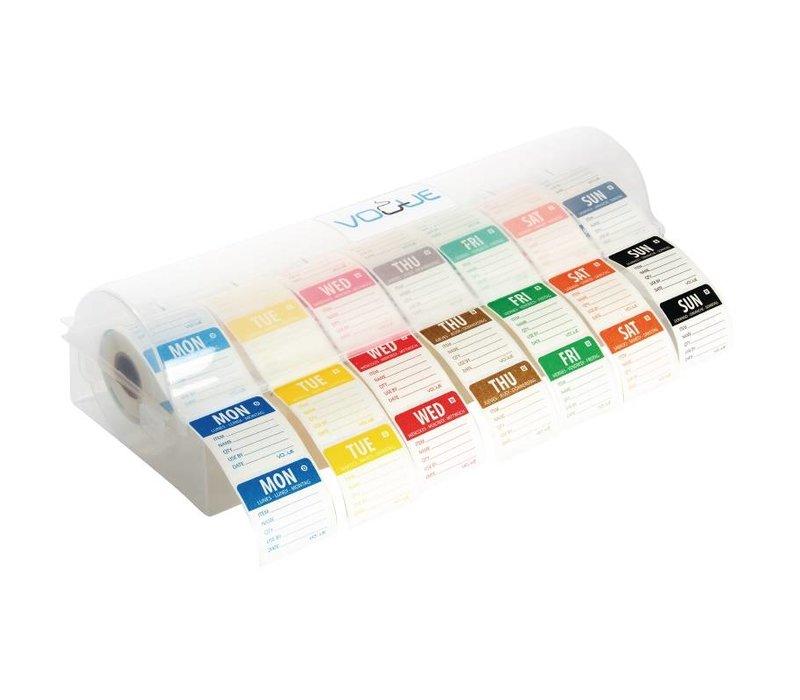 XXLselect Dispenser voor Voedseletiketten 5cm | Incl. 7 Rollen x 1000 Stickers