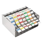 XXLselect Labeldispenser RVS + Voedsellabels | 7 Rollen x 1000 Stickers