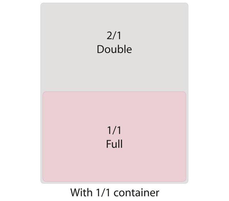 XXLselect Bak Zwart Polycarbonaat | GN 1/1 | 100mm