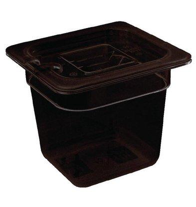 XXLselect Bak Zwart Polycarbonaat | GN 1/6 | 65mm