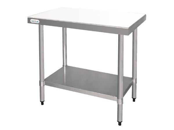 XXLselect HDPE Cutting Table / Stainless Steel Frame | 900x600x900 (h) mm