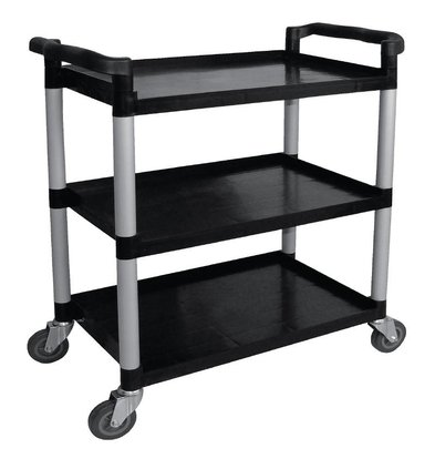 XXLselect Trolley Black PP | 3 Sheets | up to 130 kg