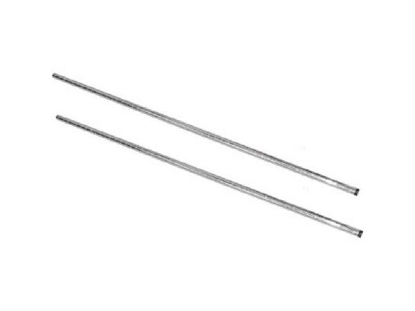 XXLselect Staanderset Chroom | voor Voorraadrekken | 127cm | 2 Stuks