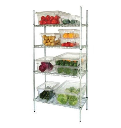 XXLselect Stock Row 4 Shelf | Galvanized Zinc | 915x457x1830 (h) mm