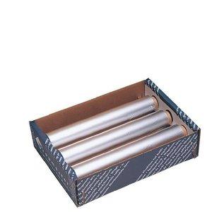 XXLselect Aluminiumfolie | 450mm x 90m | 3 Rollen