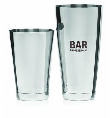 Bar Professional Boston Cocktail Shaker Set Stainless Steel 0.8 Litre