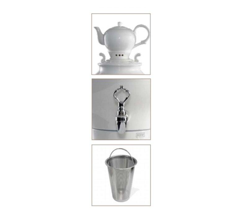 XXLselect BEEM Samovar Trendy Odette - maker / Kettle - Porcelain White - 5 Litre