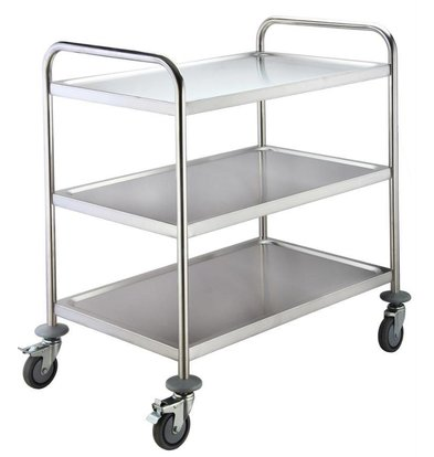 Saro Trolley stainless steel - 3 Blades - 860x510x940mm - 75Kg | XXL OFFER