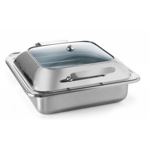 Hendi Chafing Dish RVS GN 2/3   Glazen Deksel   Inductie