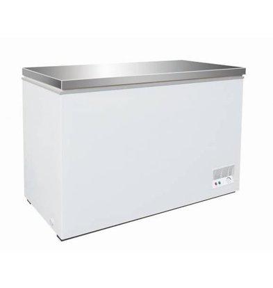 XXLselect Gefrierschrank mit Edelstahldeckel | 390 Liter | 130W | 1330x637 / 680x830 (h) mm