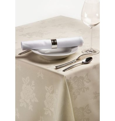 XXLselect Tablecloth 225x225 cm Ivory