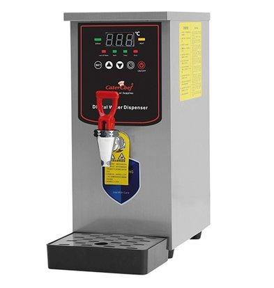 Caterchef Heetwaterapparaat met Aftapkraan en Lekbak | 210x400x(h)450mm | 20 liter Per uur