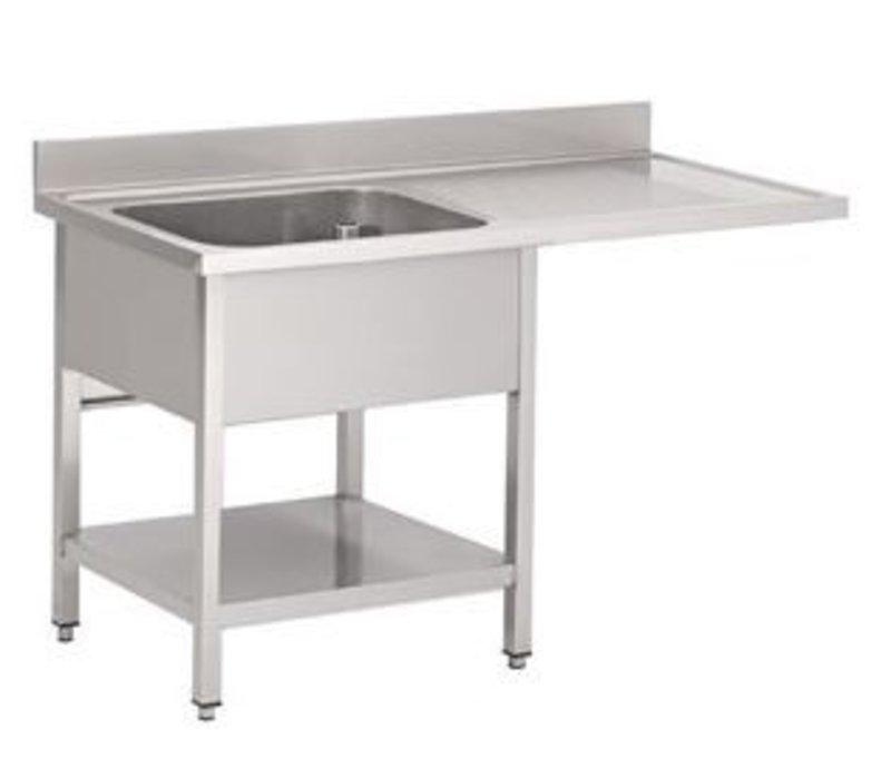 Gastro M Edelstahl-Spüle mit Platz für Geschirrspüler 1200x700x850mm