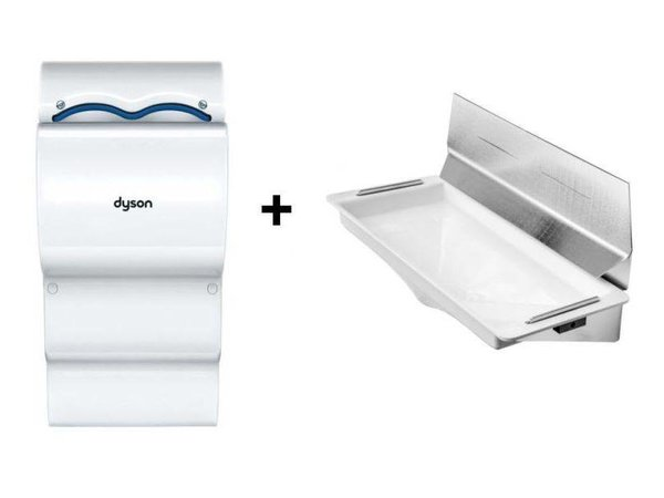 Dyson Ab14 set Dyson Airblade Hand Dryer White + Retention | With Wall Cher Ming