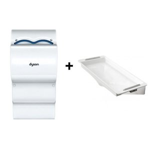 Dyson Ab14 set Dyson Airblade Hand Dryer White + Retention | Without Wall Protection