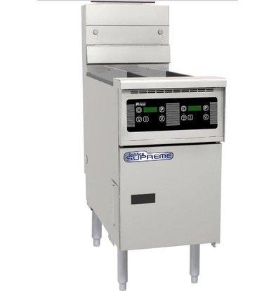 Pitco Friteuse Gas Digital | Pitco Solstice Supreme SSH55 | 23kW | Olie 23Kg | 75Kg/u | 397x875x864(h)mm