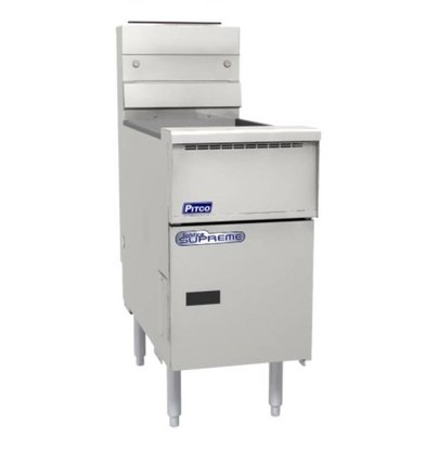 Pitco Friteuse Gas Solid State | Pitco Solstice Supreme SSH55 | 23KW | Oil 23kg | 75kg / h | 397x875x864 (h) mm