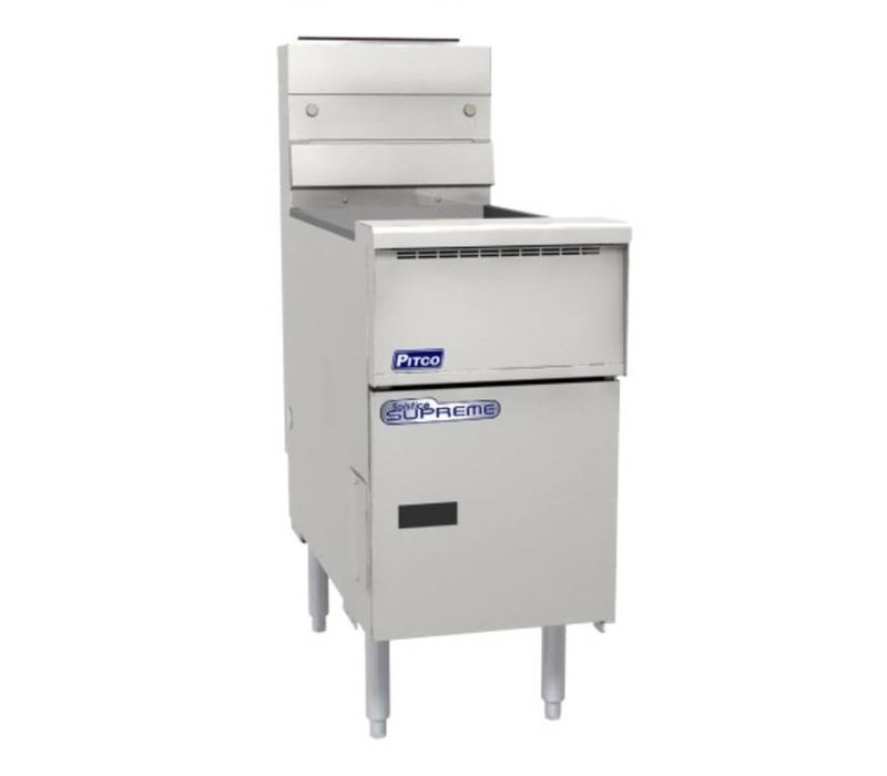 Pitco Fryer Gas Solid State | Pitco Solstice Supreme SSH55 | 23KW | Oil 23kg | 75kg / h | 397x875x864 (h) mm