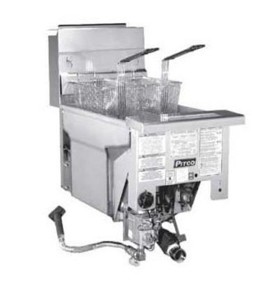 Pitco Drop-in Gas Fryer Milivolt | Pitco Solstice SG14DI | 32kW | Oil 23kg | 60kg / h | 397x817mm