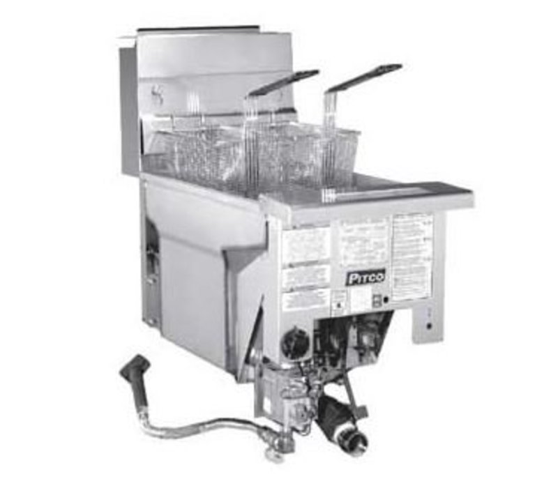 Pitco Drop-in Gas Fryer Milivolt   Pitco Solstice SG14DI   32kW   Oil 23kg   60kg / h   397x817mm