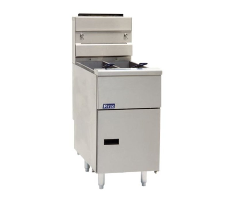 Pitco Fryer Gas Milivolt | Pitco Solstice SG14TS | 2 x 15kW | Oil 2 x 11kg | 60kg / h | 397x864x864 (h) mm