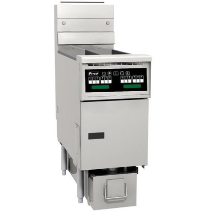 Pitco Fryer Gas Computer | Pitco Solstice SG14TS | 15kW | Oil 11kg | 60kg / h | 397x864x864 (h) mm