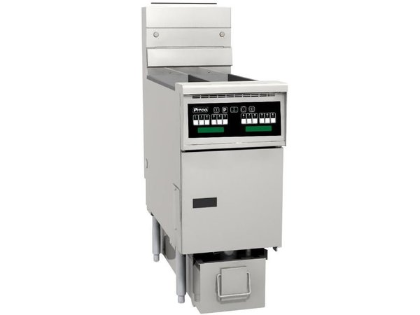 Pitco Friteuse Gas-Computer | Pitco Solstice SG14TS | 15kW | Oil 11kg | 60kg / h | 397x864x864 (h) mm