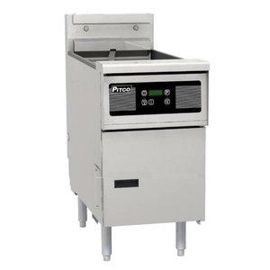 Pitco Digital Gas Fryer | Pitco Solstice SG14S | 32kW | Oil 23kg | 60kg / h | 397x864x864 (h) mm