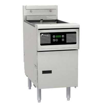 Pitco Digitale Gas Fryer | Pitco Solstice SG14S | 32kW | Oil 23kg | 60kg / h | 397x864x864 (h) mm
