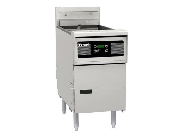 Pitco Digital Gas Fryer   Pitco Solstice SG14S   32kW   Oil 23kg   60kg / h   397x864x864 (h) mm