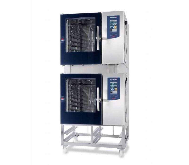 Leventi Kombidämpfer Leventi ME 01.10 BDI | Gas 21kW | 8x / 10x / 11x UND 400x600 oder GN 1/1 | 899x831x1087 (h) mm